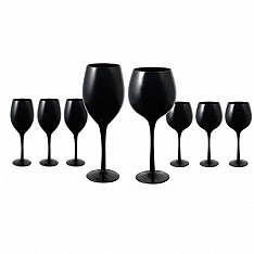 Midnight Black Glassware