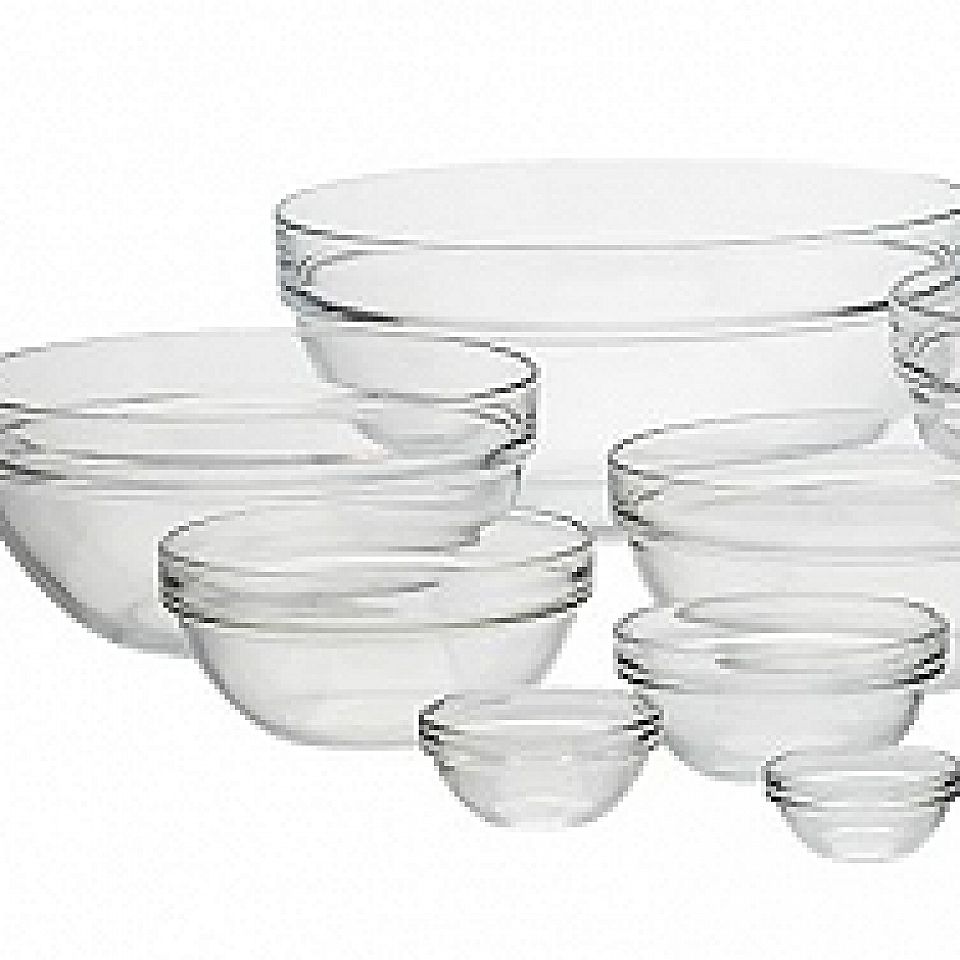 Cone Clear Glasses With Black Stands