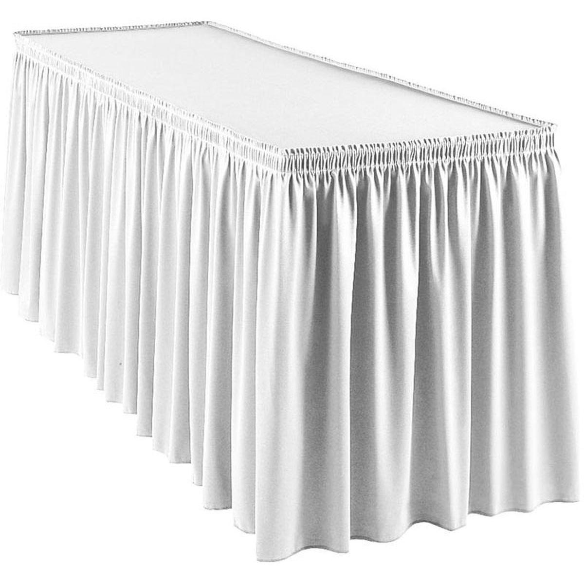 13u2032 Table Skirt Counter Height White