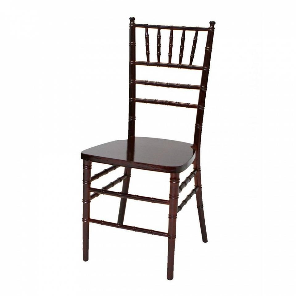 Mahogany Chiavari Chair W Brown Cushion Grand Event Rentals