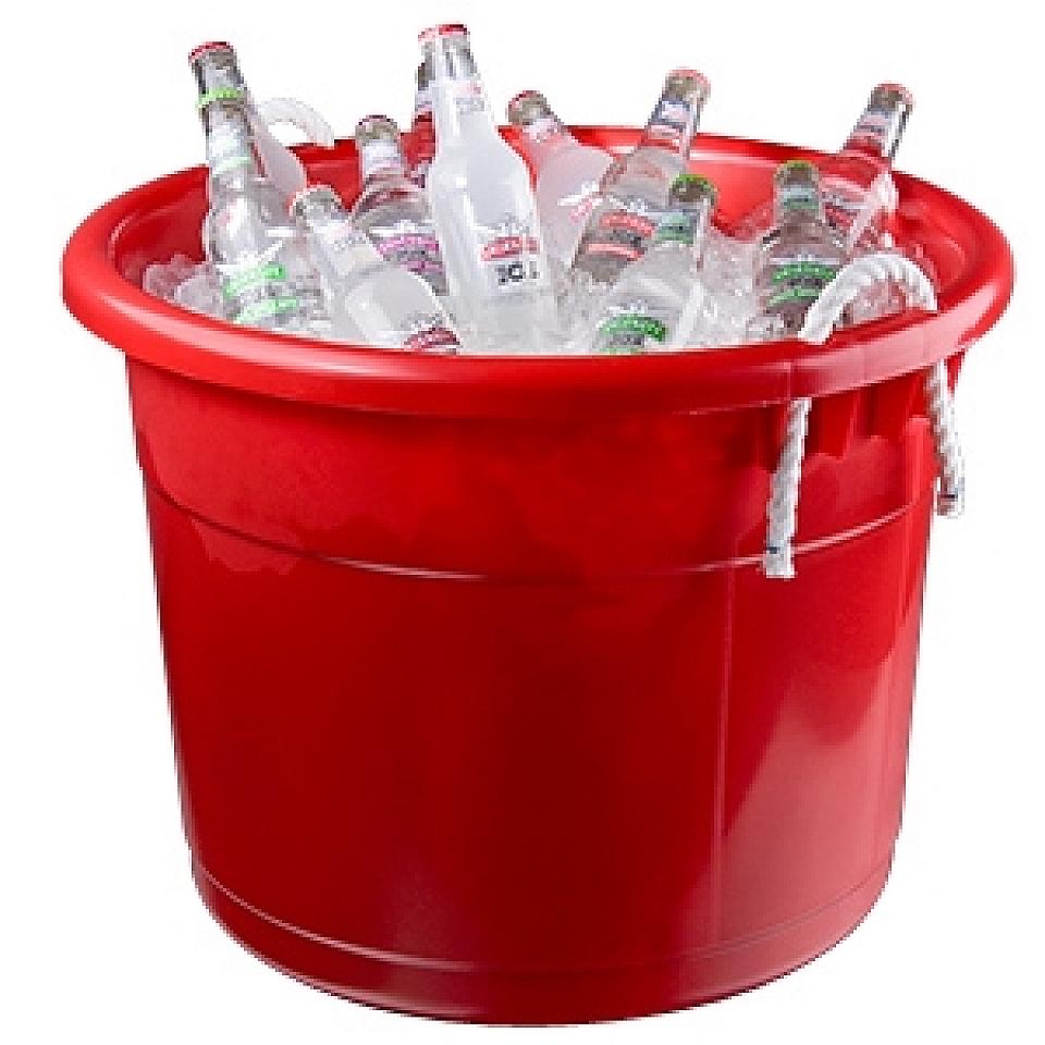 Plastic Beverage Tub Round W Handles 40 Gal Various