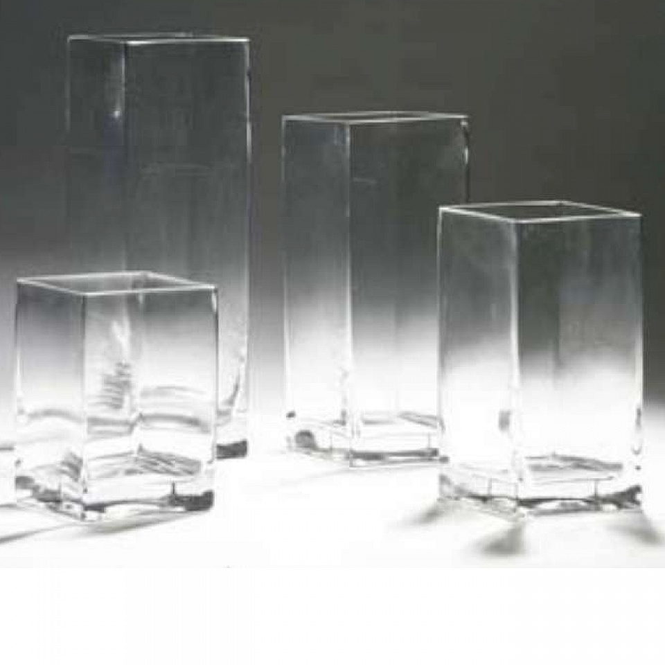 Square glass vase large 12h x 4 x 4d grand event rentals square glass vase large 12h x 4 x 4d reviewsmspy