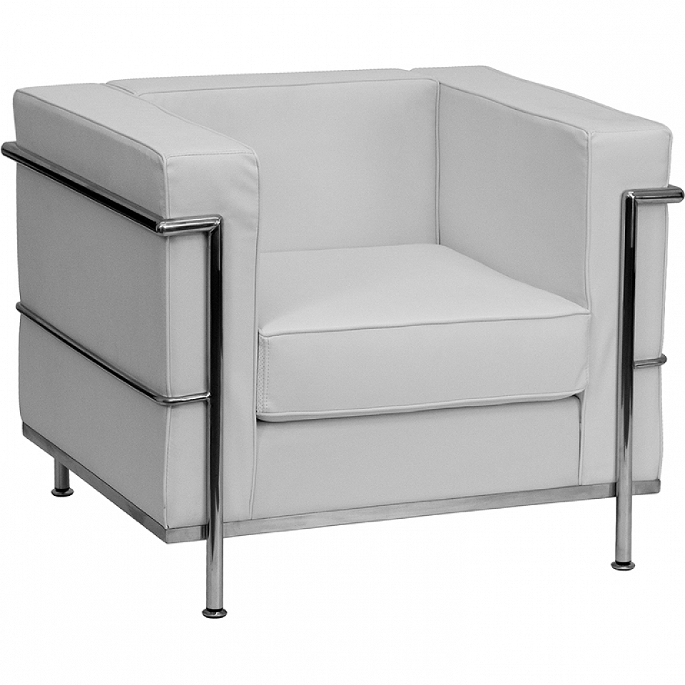 Delicieux Modern Lounge Chair: White Leather