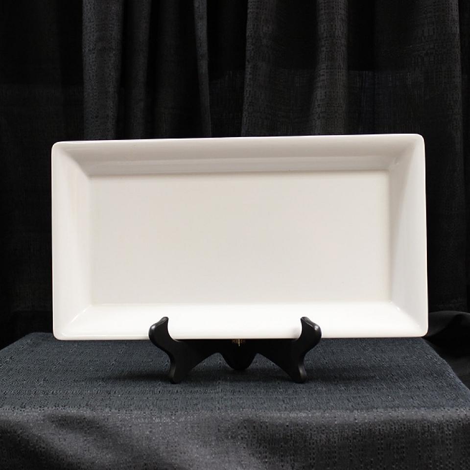 White Whittier Rectangle Platter 7 X 15 Grand Event Rentals