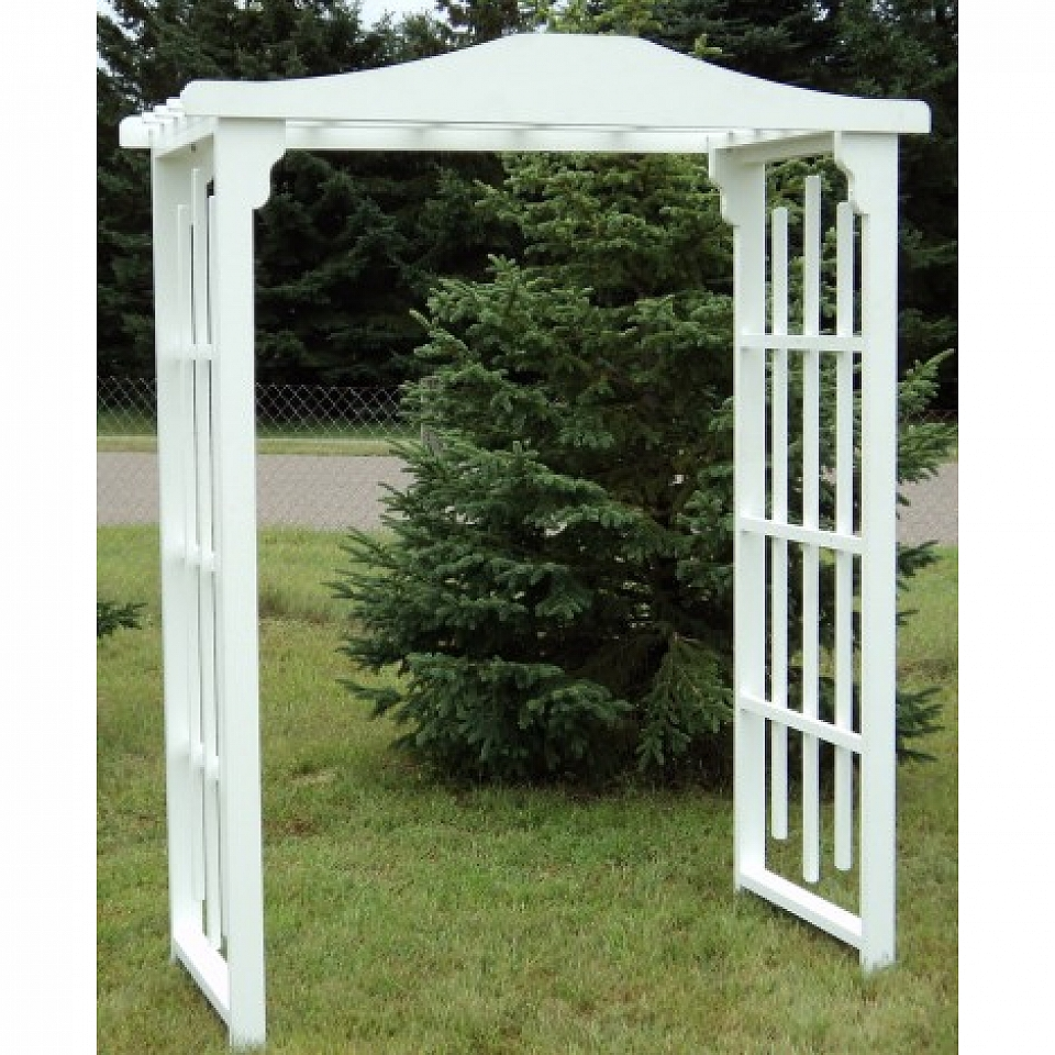 White Wood Flat Arch Grand Event Rentals