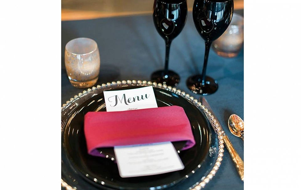 Place Settings for Fall Wedding