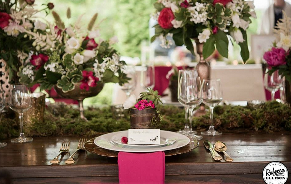 Table Decor for Snohomish Wedding
