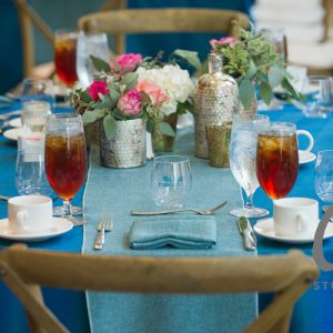 Blue Table Decor for Event