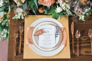 Place Setting for Snohomish Wedding