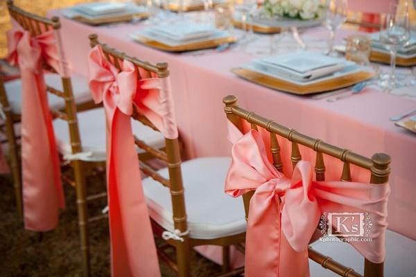 Peach Wedding Decor Seattle