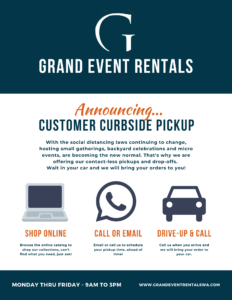 Customer Curbside Pickup Flyer page one