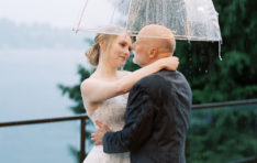 Couple photo under an umbrella