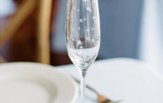Close up wine glass photo