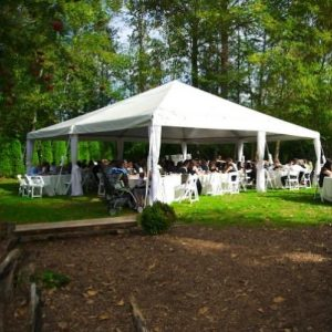 Wedding Tent with open side walls